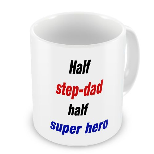 Half Step-Dad Half Super Hero Novelty Gift Mug